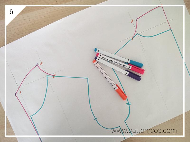 Cómo hacer el patrón de un cuello cisne | Patronaje y transformaciones