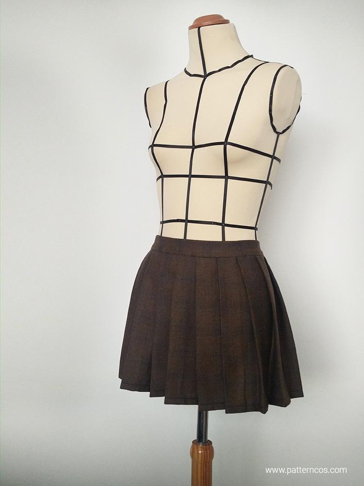 Cómo coser una falda plisada al estilo colegial | Aprender a coser